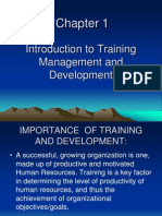 Chapter 1 Introduction to Training Management and Development
