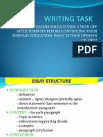 Writing Task 1 School Leavers Shld Take a Year Off