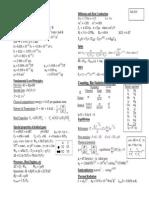UIUC Phys 213 Formula