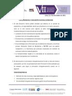 Conclusiones VII Encuentro Nacional de Regiones