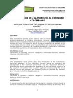 INTRODUCCIÓN DEL DARWINISMO AL CONTEXTO COLOMBIANO