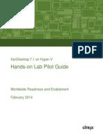 XenDesktop 7.1 on Hyper-V Pilot Guide v1.0