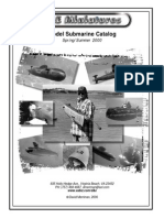 D&E MINIATURES 2000 Model Submarine Catalog