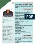 Future format of Resume