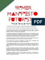 LECTURA 22- Manifiesto Futurista