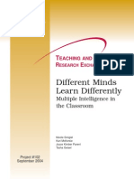 IM Investigación Different Minds learn differently