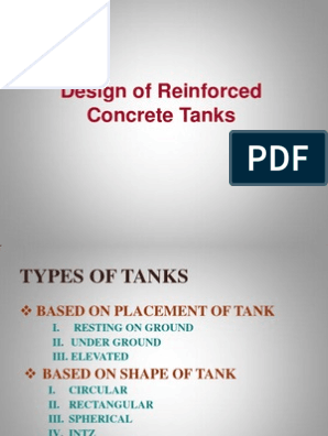 Design of Reinforced Concrete Water Tanks | Fracture | Concrete