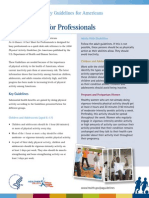 Be Active 2008-Factsheet Professionals