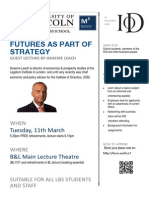 Futures as part of Strategy - guest lecture by  Graeme Leach, 11 March Poster