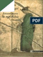 Martin Heidegger-Introducere in Metafizica-Humanitas (1999)