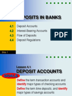 Deposits in Banks