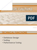 Technical Functions of a DBA