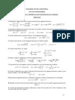 Ejercicios Soluciones Derivada Diferencial 1variable