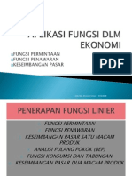 Matematika Ekonomi 4 Fungsi Penawaran Permintaan Keseimbangan Pasar