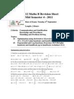 12 Maths B Revision Sheet Term 3 2011