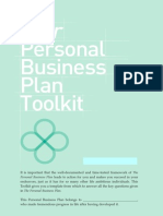 The Personal Business Plan Toolkit