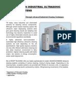 Hi Precision Ultrasonic Cleaning Equipment