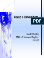 Arsenic in Water