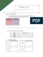 Ficha de matemática