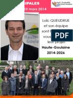 Municipales 2014 | Agir Ensemble pour Haute-Goulaine | Notre programme