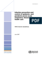 WHO Guidelines for Infection Prevention