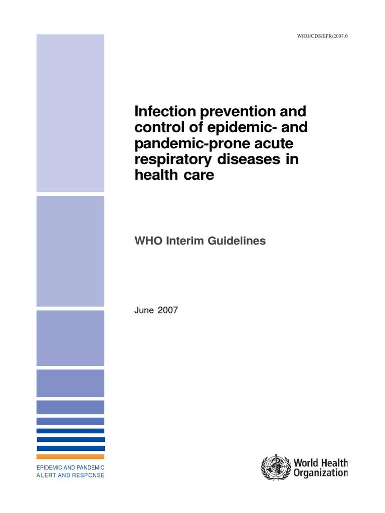 who guidelines for infection prevention | avian influenza | infection