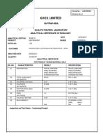 Anlysis Certificate