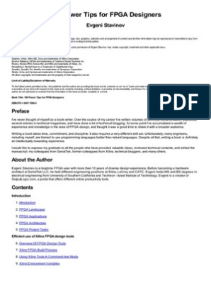 100 Power Tips for FPGA Designers Stavinov Evgeni