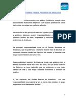 Documento presentado por el PP-A a Susana Díaz