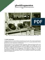 Dagboekfragmenten - In Memoriam Een Aantal Laboratoriumexperimenten