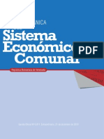 LEY ORGÁNICA del sistema economico comunal