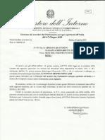 Lettera Ministero Accettazione n.p.p. 20-04-2009