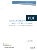 Install Moodle 2.5 on Server 2012 R2 with SQL 2012