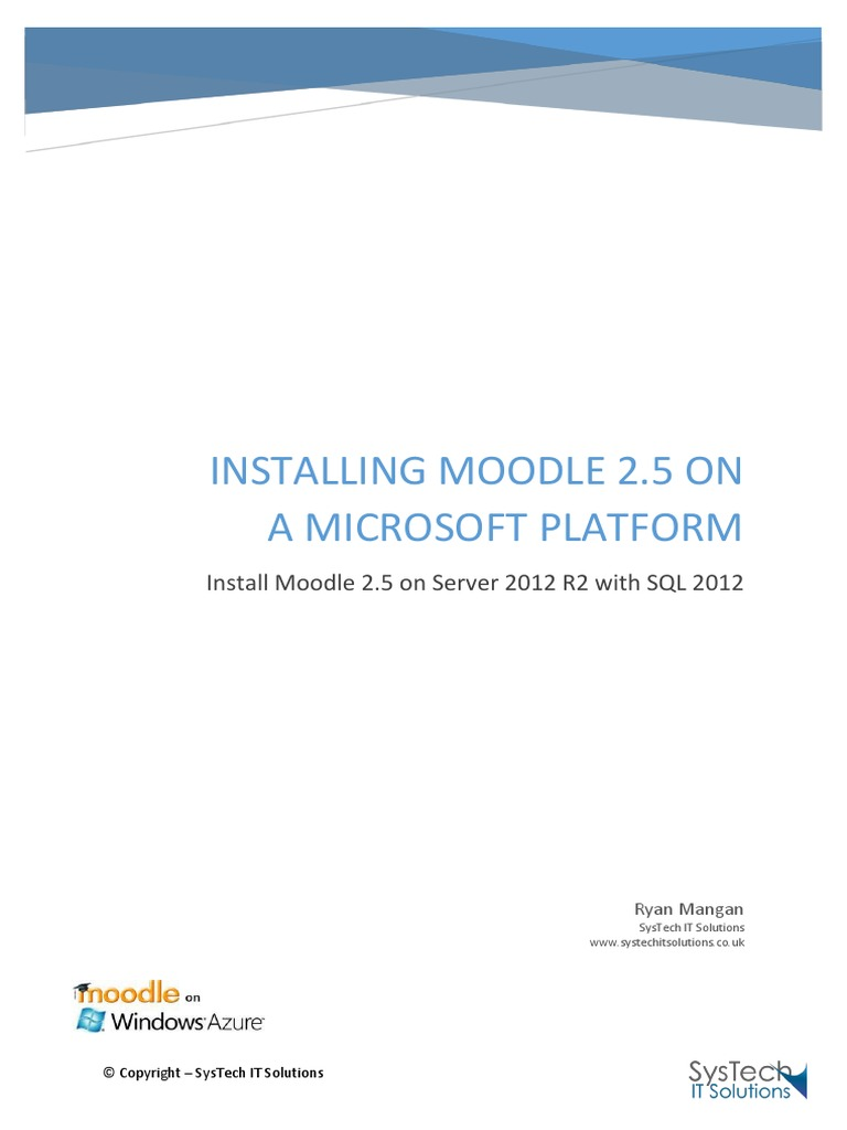Install Moodle 2 5 on Server 2012 R2 with SQL 2012 | Php