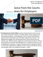 FLSA Guidance from the Courts