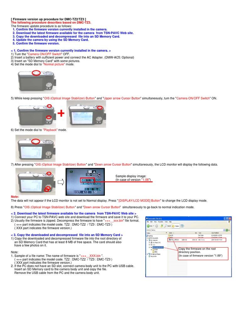 Panasonic lumix tz3 software download.