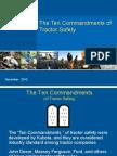 10 Mandamentos da Segurança em Tratores