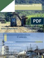 70770 Bioethanol Technologies in Africa Presentation B.batidzirai