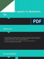 Abdomen Agudo vs Abdomen Qx