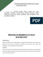 Implementasi Program Bimbingan Konseling Dalam Kurikulum 2013