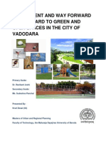 Assessment and Way Forward With Regard to Recreational Facilities in the City of Vadodara