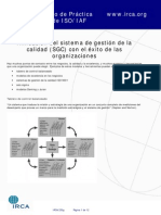 Alineación del SGC con el exito en las Organizaciones