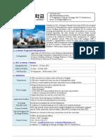 Chonnam National University_Fact Sheet-Exchange 2013_new