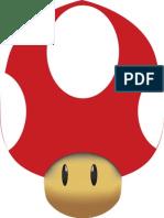 Mario Mushroom in Adobe Illustrator.