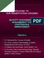 quality management management for continuous improvement