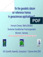 How to Fix the Geodetic Datumfor Reference Frames in Geosciences_Drewes