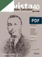 Revista Estudios Sociales No 40