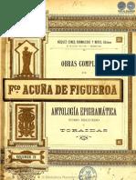 OBRAS COMPLETAS DE FRANCISCO ACUNA DE FIGUEROA - VOLUMEN IV - PORTALGUARANI