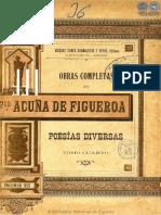 OBRAS COMPLETAS DE FRANCISCO ACUNA DE FIGUEROA - VOLUMEN VIII - PORTALGUARANI