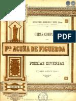 OBRAS COMPLETAS DE FRANCISCO ACUNA DE FIGUEROA - VOLUMEN XI - PORTALGUARANI